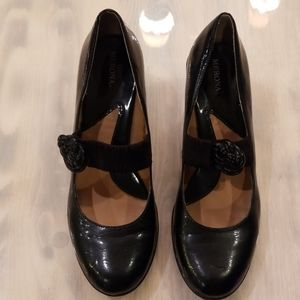 Womens black Mary Jane style heels size 11